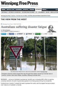Australians suffering disaster fatigue - Winnipeg Free Press